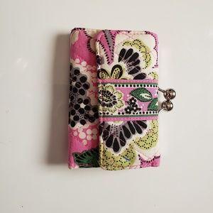 Vera bradley pink snap purse
